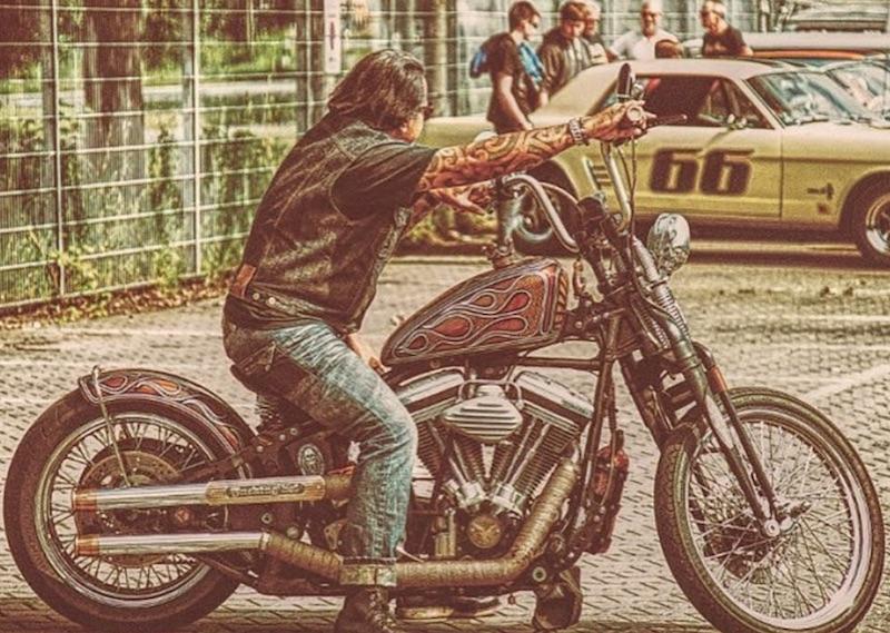 Long Hair Bikers Epicness No Motorcycle Gear Long Hair